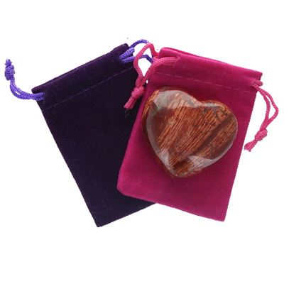 Snakeskin Jasper Heart Large in Pouch