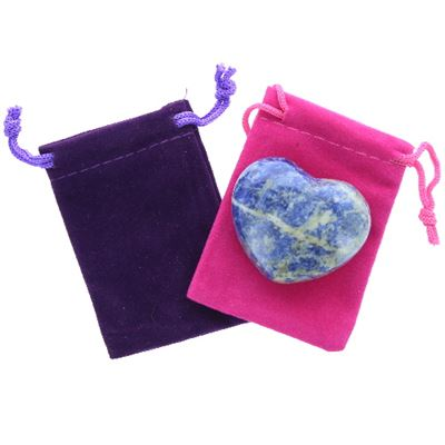Sodalite Heart Large in Pouch