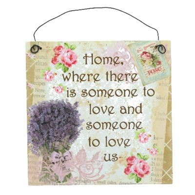 Home Lavender Hanging Plaque