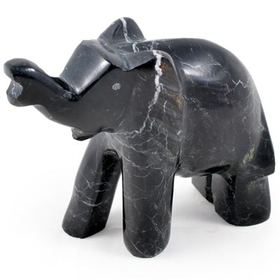 Black & White Marble Elephant