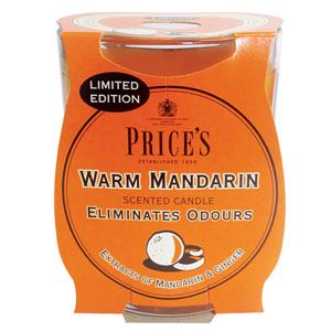 Warm Mandarin Candle in Glass Jar by Price's