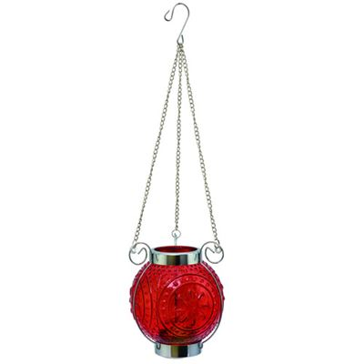 Ball Hanging Lantern Red