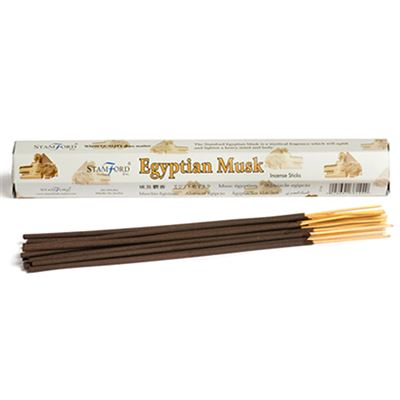 Egyptian Musk Incense Sticks Hexagonal Pack Stamford 12