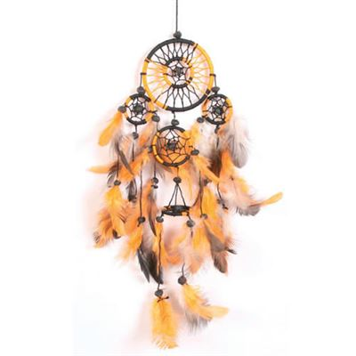 Orange & Black Dream Catcher