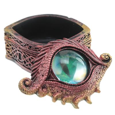 Red All Seeing Dragon Eye Trinket Box