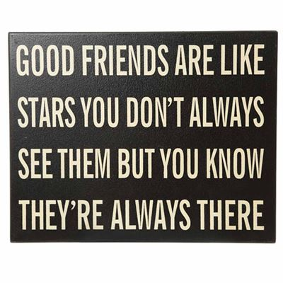 Good Friends Are Like Stars Large Wall Plaque