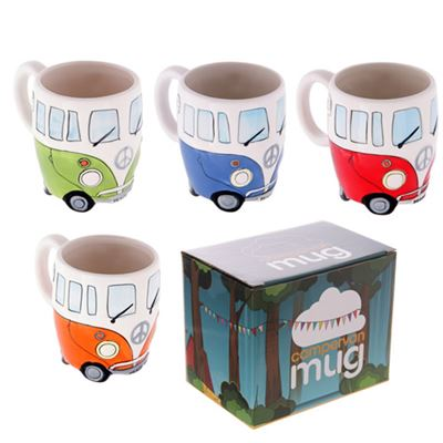 Camper Van Mug Gift Set of Four