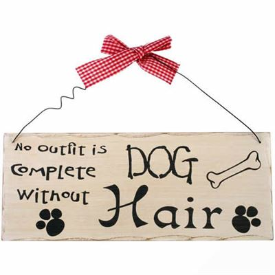 No Outfit Is Complete Without Dog Hair Shabby Plaque