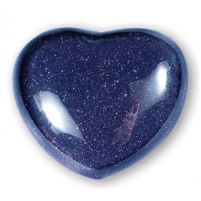 Blue Goldstone Heart Large