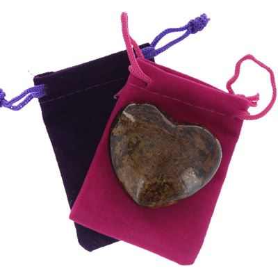 Bronzite Heart Large in Pouch