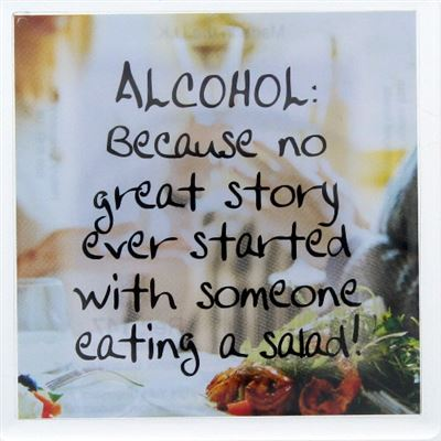 ALCOHOL: Because no great story ever started … Fridge Magnet 147