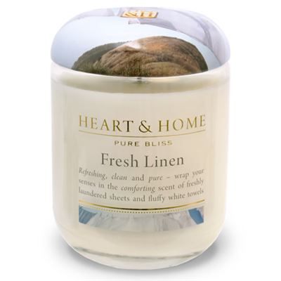 Fresh Linen Candle in Jar Extra Large 80 hours