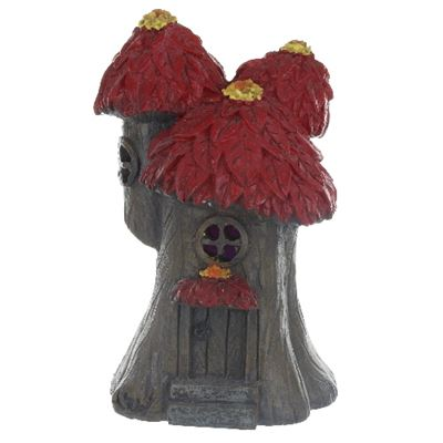 Red Tree Light Up Fairy House