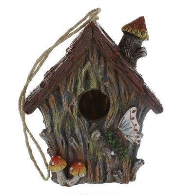 Bird House Woodland with Butterfly