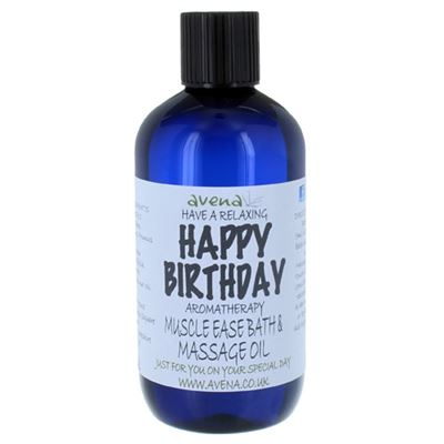 Happy Birthday Gift Massage & Bath Oil 250ml