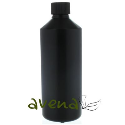 Plastic Bottles Black with Black Cap 500ml