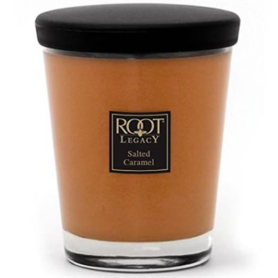Salted Caramel Root Large Veriglass Candle in Jar with Lid