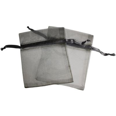 Silver Organza Bag Two Pack