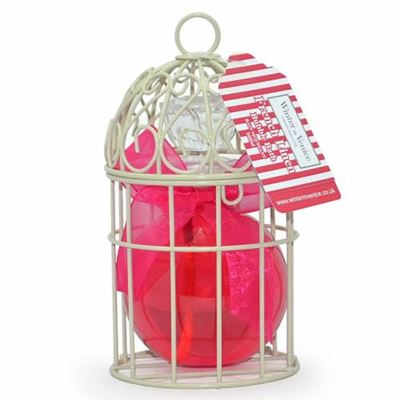 French Linen Bird Cage Gift Set