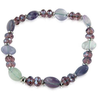 Fluorite Crystal Button Bracelet