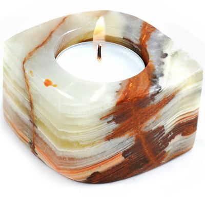 Onyx Eye Shaped Candle Holder