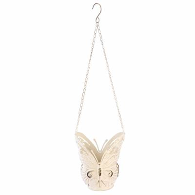 Butterfly Hanging Cream Planter Extra Large