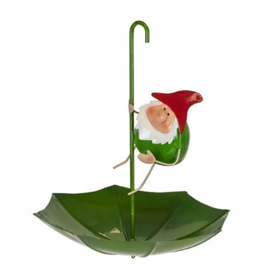 Gnome Metal Umbrella Bird Feeder
