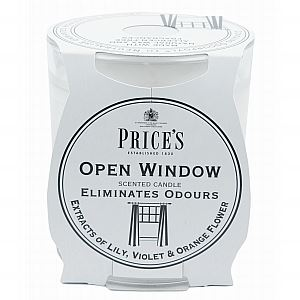 Open Window Candle in Glass Jar by Price's