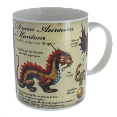 Golden Mountain Dragon Mug in a Box