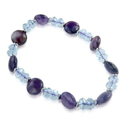 Amethyst Crystal Button Bracelet