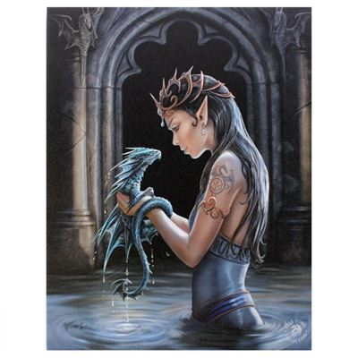 Water Dragon Canvas Picture by Anne Stokes