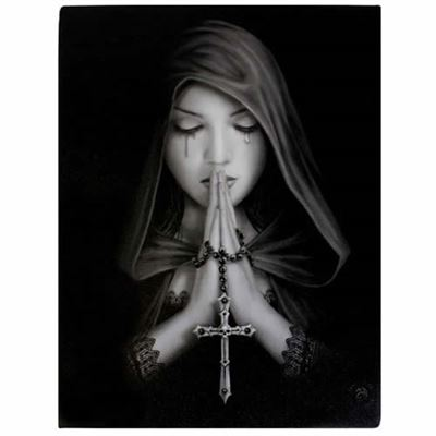 Gothic Prayer Canvas Picture by Anne Stokes