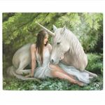 Unicorn Pure Heart Canvas Picture by Anne Stokes