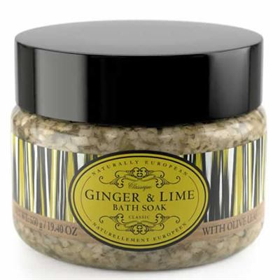 Ginger & Lime Naturally European Bath Salts Large 550g Tub