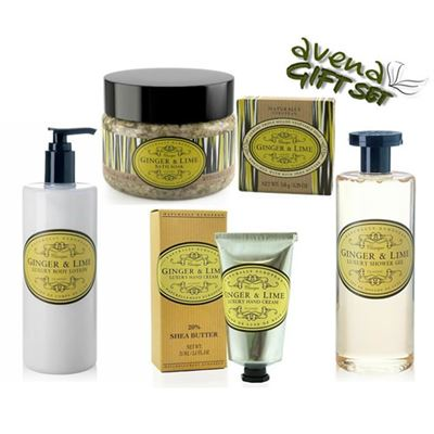 Five Piece Luxury Gift Box Ginger & Lime