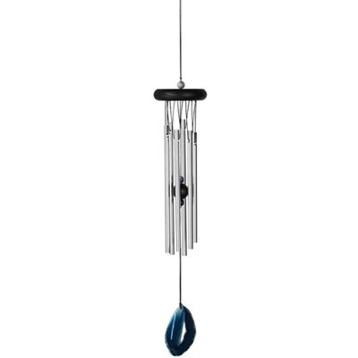 Agate Wind Chime Blue Woodstock