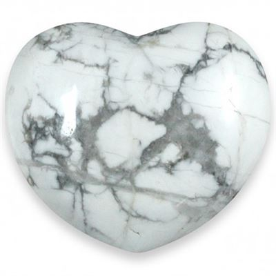 Heart Large White Howlite