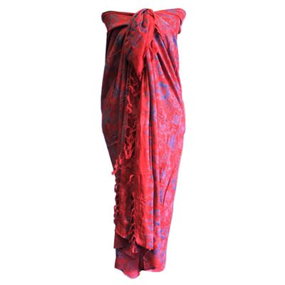 Bali Block Tropical Design Sarong