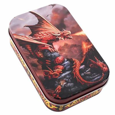 Fire Dragon Metal Tin