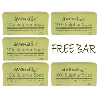 Sulphur Soap 200g. Free Bar Offer! 5 Bars For The Price Of 4!