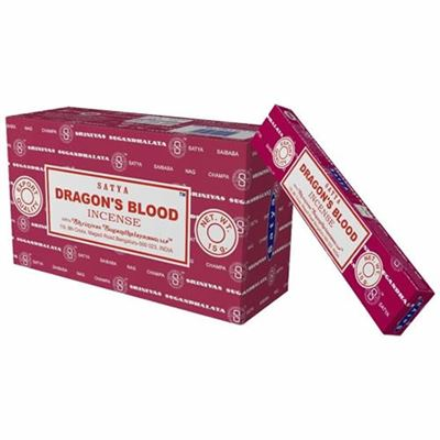 Dragons Blood Incense Sticks Satya 15g Box Of Twelve Special Offer