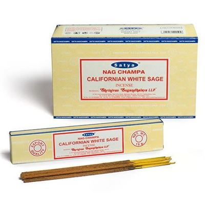 Californian White Sage Incense Sticks Satya 15g Box Of Twelve Special Offer
