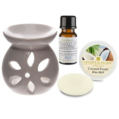 Coconut Oil Burner Gift Set in Box