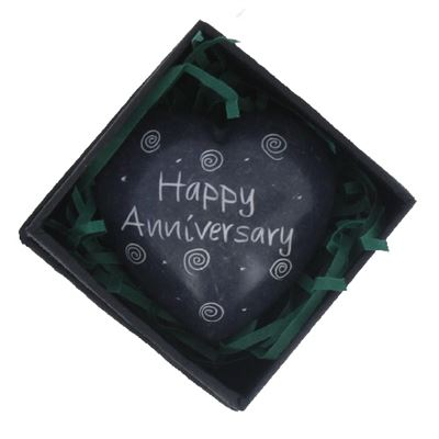 Happy Anniversary Heart in Gift Box Fair Trade