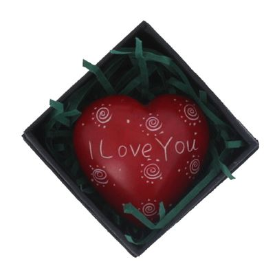 Red I Love You Heart in Gift Box Fair Trade