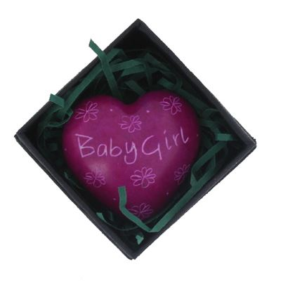 Baby Girl Pink Heart in Gift Box Fair Trade