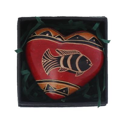 Fish Heart in Gift Box Fair Trade