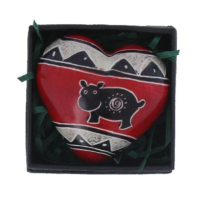 Hippo Heart in Gift Box Fair Trade