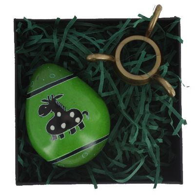 Giraffe Egg in Gift Box with Stand Fair Trade
