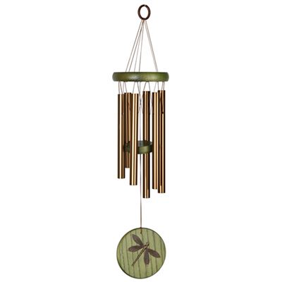 Dragonfly Wind Chime Bronze & Green by Woodstock